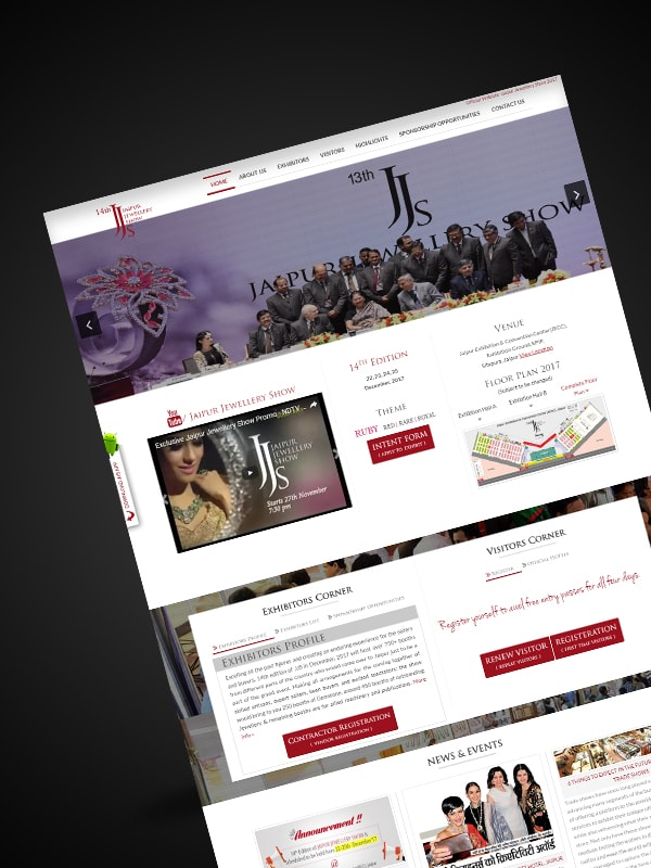 jewelry website development
